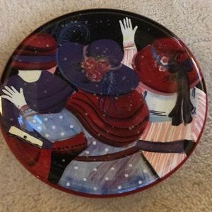 Red Hat Society plate by Susan Winget